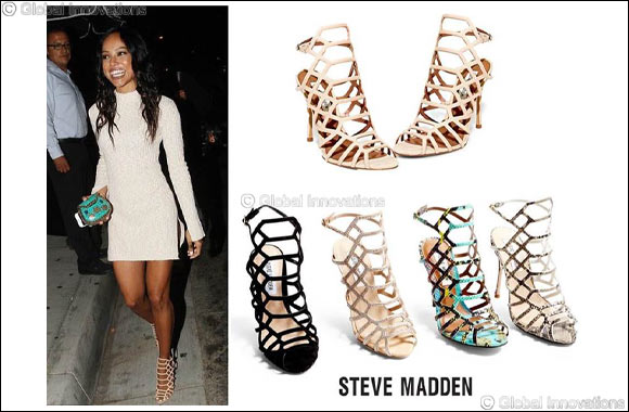 a00cf29c256 Get caged into these Steve Madden sandals like Karrueche Tran ...