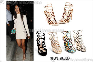 Get caged into these Steve Madden sandals like Karrueche Tran!