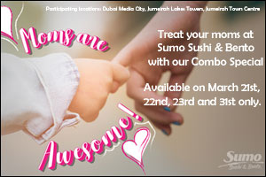 Treat your moms at Sumo Sushi & Bento with our Combo Special!!