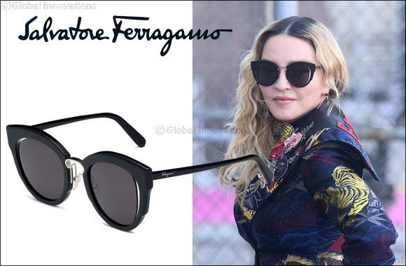c27db42eee6 Madonna wears Salvatore Ferragamo eyewear.   GoDubai.com