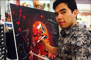 New York-Based Urban Artist creates masterpiece at Shoeciti in Dubai
