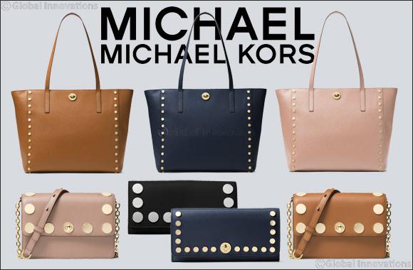 34e8aace9e89 MICHAEL Michael Kors Rivington Stud Handbags   GoDubai.com