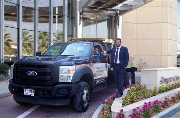Dubai, 05 June 2017: A Ford F-550 Super Duty delivery truck belonging to Al Tayer Motors, the official importer-dealer for Ford vehicles in the UAE, ...