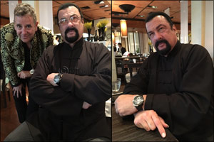 Seagal Shows Off the Stunning Jules Verne Instrument II from Louis Moinet.