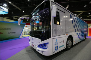 Masdar unveils locally manufactured all-electric Eco-Bus  at Abu Dhabi Sustainability Week 2018