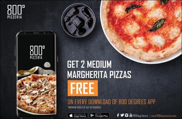 Get 2 Margherita pizzas free on every download of the new 800
