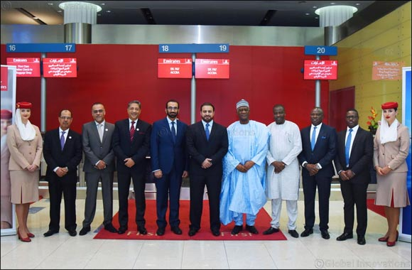Image result for Emirates' one-off A380 service arrives in Accra