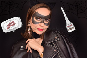 "Halloween ""Catwoman"" mask using BROW products"