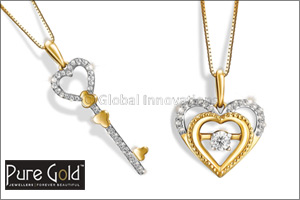 pure gold jewellers launches romantic heart diamond pendants for ...