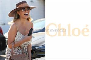 Chrissy Teigen Wears Chlo� Sunglasses
