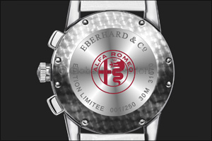 Eberhard & Co. and the new  �Quadrifoglio Verde� chronograph, dedicated to the prestigious Alfa Romeo emblem