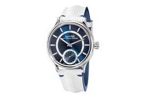 eberhard & co. traversetolo vitre in blue dial makes stunning imp...
