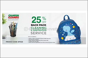 Exclusive �Back to School' Discount from Champion Cleaners!