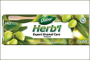 Dabur Herb'l Launches Olive Based Anti-oxidant Rich, Anti-bacterial Herbal Toothpaste That Provides Expert Enamel Care