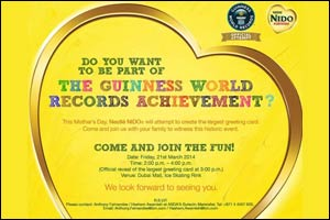 NIDO Invite: Guinness World Record attempt to create the largest greeting Card