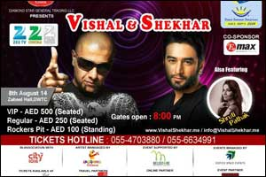 Vishal and Shekhar Live in Dubai