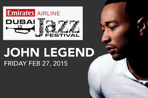 John Legend at the Dubai Jazz Festival 2015