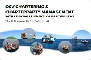 OSV Chartering & Charterparty Mgnt with Essential Elements of Maritime Law