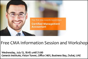 Free CMA Information session and Workshop