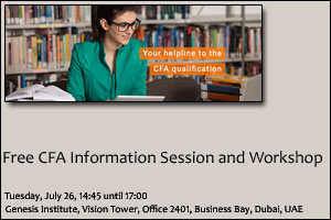 Free CFA Information session and Workshop