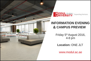 MODUL University Dubai Information Evening and Campus Preview