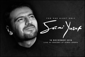 For one night only, Sami Yusuf