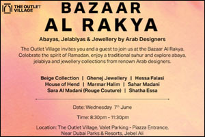 Eight prominent Arab fashion designers to showcase collections at The Outlet Village during Ramadan
