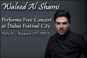 Waleed Al Shami Performs Free Concert at Dubai Festival City