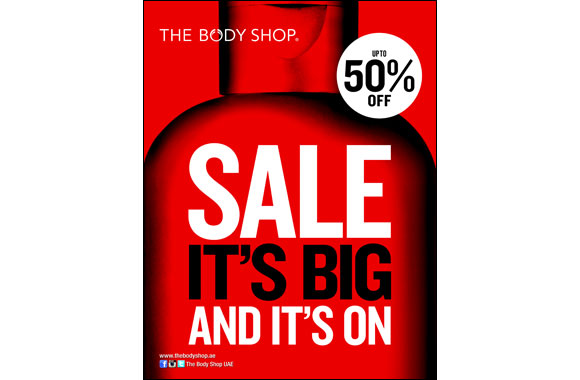 This DSF The Body Shop offers UPTO 50% off across all its