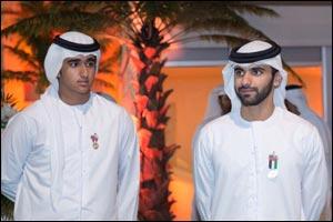 His Higness Sheikh Abdallah Al Maktoum and Sheikh Mansoor Bin Mohammed Bin Rashid Celebrates UAE National Day