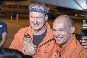 Solar Impulse 2 Lands in Varanasi India