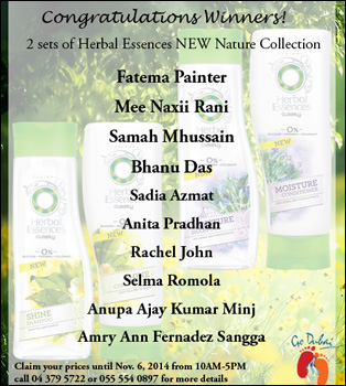WINNERS of SHAMPOO & CONDITIONER FROM Herbal Essences